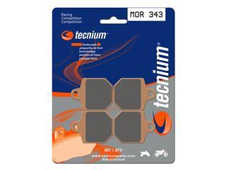Plaquettes de frein TECNIUM MOR343 métal fritté