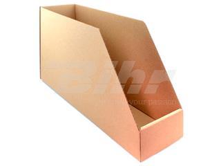 Caja de cartón automontable para organización de stock 560x160x300. Alta resistencia. Grosor 3mm