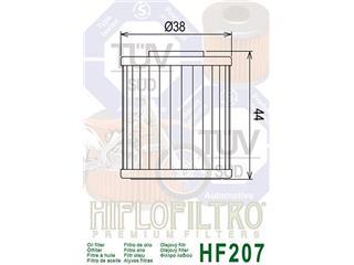 Filtre à huile HIFLOFILTRO HF207 - 7906290