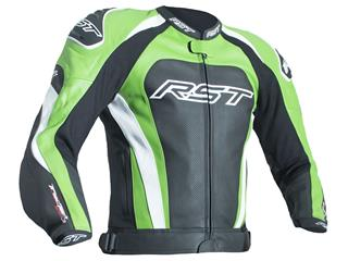 RST TracTech Evo 3 Jacket CE Leather Green Size XL - 12051GRN46