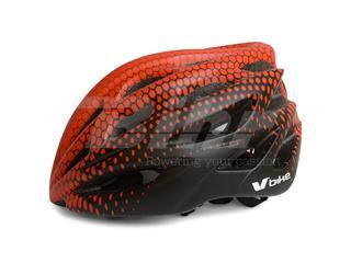 Capacete V Bike MTB/Road 25 aberturas de ventilação vermelho/pretotamanho M (55-58cm)