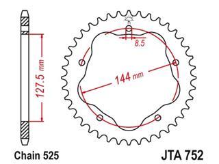 JT SPROCKETS Rear Sprocket 43 Teeth Aluminum Ultra-Light 525 Pitch Type 752