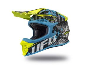 Casque UFO Intrepid Matt Black/Blue/Neon Yellow taille M