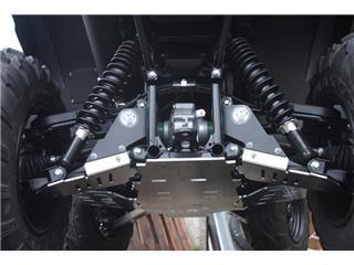 AXP Rear Skid Plate HDPE 6mm Black Yamaha YFM700 Grizzly