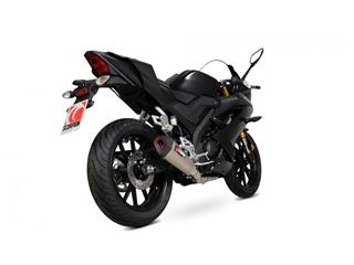 Ligne complète SCORPION Serket Taper inox/silencieux titane/casquette noir ABS Yamaha YZF-R125
