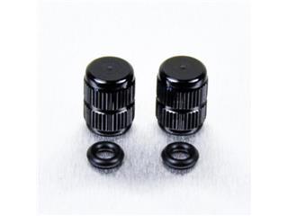 Pair of Pro-Bolt black aluminium tyre valve caps