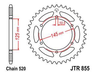 Couronne JT SPROCKETS 45 dents acier pas 520 type 855 - 47085545