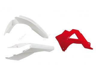 RACETECH Plastic Kit OEM Color White/Red Gas Gas EC125/250/300/450 FSR