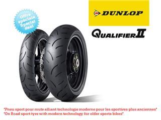 Train de pneus Hypersport DUNLOP Qualifier II (120/70ZR17 + 180/55ZR17)