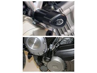 Tampons de protection R&G RACING Aero noir Aprilia Mana 850