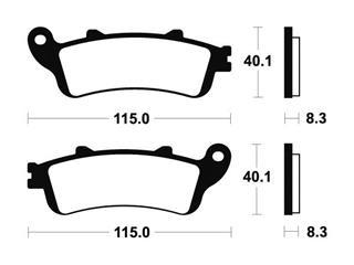 Plaquettes de frein TECNIUM MA236 organique - d1db1594-b6e8-4521-aa9a-ceeaf2c1e0bd