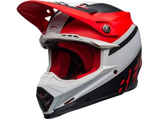 Casque BELL Moto-9 Mips Prophecy Matte White/Red/Black taille L - 801000140170