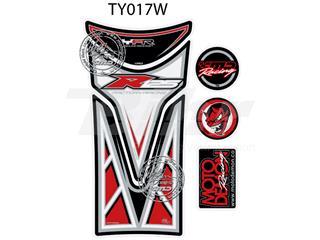 Protector de depósito Motografix YZF-R125 blanco/Rojo