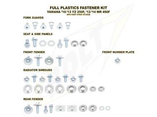 Complete set of Bolt plastic screws for Yamaha YZ250F/W R450F