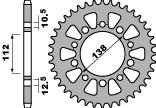 Couronne PBR 44 dents acier standard pas 520 type 4384 - 47000363