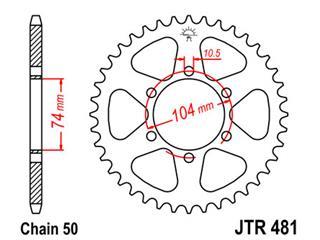 Couronne JT SPROCKETS 42 dents acier standard pas 530 type 481