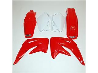 UFO Plastic Kit OEM Color Red/White Honda CR85R/RB