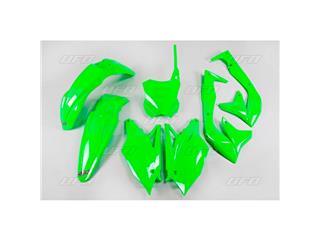 Kit plástica completo UFO Kawasaki verde fluor KAKIT226-AFLU - 11915