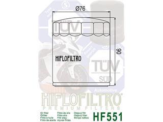Filtre à huile HIFLOFILTRO HF551 noir Moto Guzzi - d47be361-2381-401b-8f3c-4975b2dce5f4