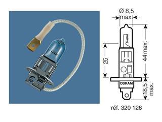 BOITE 10 AMPOULES 12V-55W / PROJECTEURS CULOT P14,5S