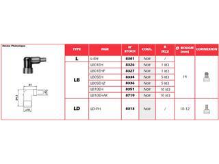 Anti-parasite NGK LB01EHF noir pour bougie avec olive - d4f87130-9a82-44c1-ab40-68c80820a052