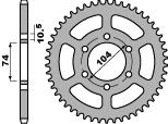 Couronne PBR 42 dents acier standard pas 530 type 481 - 47000025