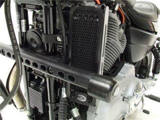 R&G RACING (Oil) Radiator Guard Black Harley Davidson XR1200