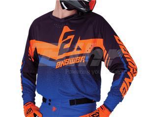 Camiseta ANSWER Trinity Negro/Azul Oscuro/Naranja Flúor Talla S