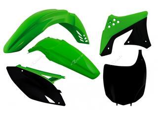 RACETECH Plastic Kit OEM Colour (2012) Green/Black Kawasaki KX-F250