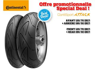 Train de pneus Hypersport CONTINENTAL ContiSportAttack (120/70 ZR 17 + 190/50 ZR 17)
