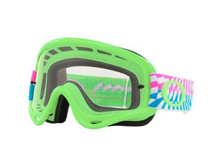 Masque OAKLEY O Frame MX Braking Bumps Green Pink écran transparent