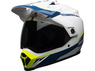 Casque BELL MX-9 Adventure Mips Torch Gloss White/Blue/Yellow taille XS