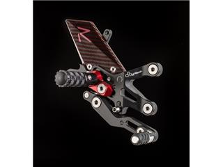 LIGHTECH Racing Adjustable/Foldable Rearset Reverse Shifting Black/Red Ducati Panigale (R)