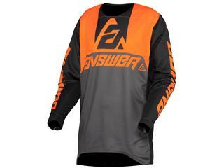 Camiseta Answer TRINITY VOYD Antracita/Naranja Flúor/Negro, Talla S - 802000430168
