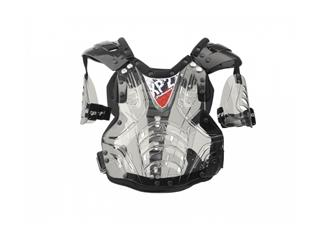 POLISPORT XP2 Chest Protector Black Smoke/Silver One Size Adult
