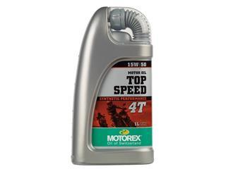 Huile moteur MOTOREX Top Speed 4T 15W50 synthétique 1L - 551235