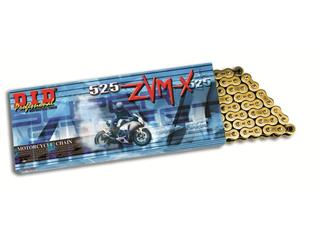 D.I.D 525 ZVM-X Transmission Chain Gold/Gold 124 Links - 456424