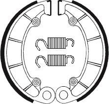 Machoires de frein TECNIUM BA046 organique