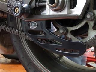 Protège couronne (dent de requin) R&G RACING ABS noir Triumph