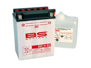 Batterie BS BATTERY BB14-B2 haute performance livrée avec pack acide