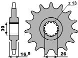 Pignon PBR 16 dents acier standard pas 525 type 2068 Honda CBR600