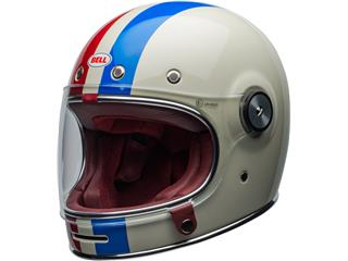 Casque BELL Bullitt DLX Command Gloss Vintage White/Red/Blue taille XS