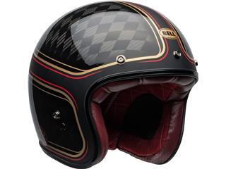 Capacete Bell Custom 500 Carbon RSD CHECKmate Preta/Dourada, Tamanho XL - da713a8e-8c1a-431e-afdb-82180663d491