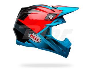 Capacete Bell Moto-9 Flex Hound Azul Ciano/Vermelho Tamanho M