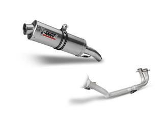 MIVV Oval Stainless Steel Full Exhaust System Stainless Steel Muffler/Stainless Steel End Cap Yamaha T-Max 500