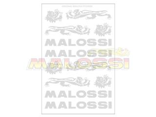 Malossi 3 sheets of chrome stickers