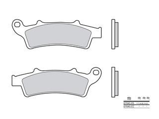 Plaquettes de frein BREMBO 07045XS carbone céramique organique
