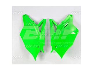 Tampas laterais traseiro UFO Kawasaki verde fluor