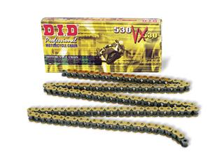Chaîne de transmission D.I.D 530 VX or/noir 120 maillons