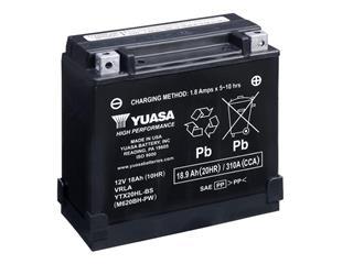 Batterie YUASA YTX20HL-BS-PW sans entretien livrée avec pack acide - 32YTX20HLBSPW